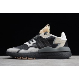 Men Adidas Nite Jogger 2019 Black-Grey-Creamy White