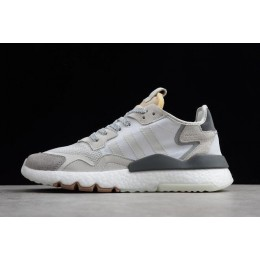 Men/Women Adidas Nite Jogger 2019 Grey-White