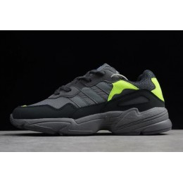 Men/Women Adidas Originals Yung 96 Carbon-Grey-Solar Yellow