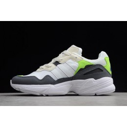 Men/Women Adidas Yung-96 Off White-Solar Green F97182