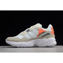 Men/Women Adidas Yung-96 White Orange F97179