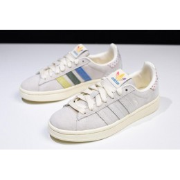 Men/Women New Adidas Campus Pride Multi Cream White-Trace Pink-Trace