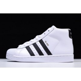 Men/Women New Adidas Pro Model White Black