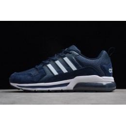 Men New Adidas Tubular Running Dark Blue-White